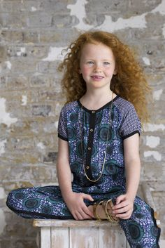 Easy to wear Kids designer collection inspired by African textiles from Petit Tribe for summer 2015