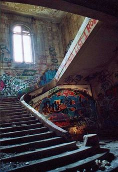 Abandoned & ruined Rothschild mansion. Paris, France.