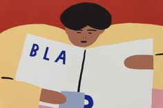 """Karl-Joel Lrsn - """"Bla Bla Bla"""". Signed and numbered art print, limited edition of 15. Available at www.masterverk.com"""