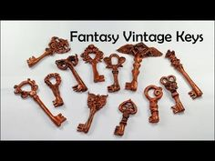 Fantasy vintage keys - polymer clay TUTORIAL - YouTube