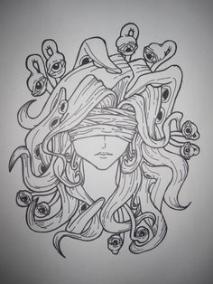 Medusa but with tentacles instead of eyes or snakes