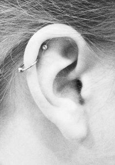Ear Peircings, Double Cartilage Piercing, Cute Ear Piercings, Multiple Ear Piercings, Dermal Piercing, Body Piercings, Piercing Tattoo, Tongue Piercings, Cartilage Earrings