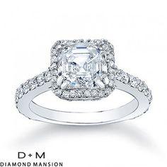 1.95ct Asscher Cut Diamond Engagement Ring 18K E/SI1-14k White Gold $4015 http://#asscher http://#asschercutdiamonds http://#asschercutengagementrings