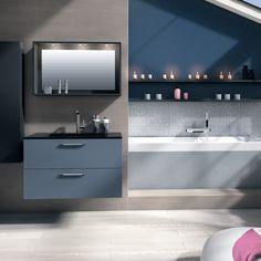 salle de bains ibiza bleu baigne de lumire le jour idale pour se relaxer - Meuble Salle De Bain Bleu