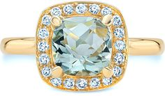 Ice 2 CT TW Cushion-Cut Swiss Blue Topaz 14K Gold Halo Ring with Diamond Accents