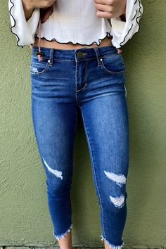 """Articles of Society """"Sammy Step Hem Skinny"""" - Lyon from Chocolate Shoe Boutique Articles Of Society Jeans, Shoe Boutique, Destruction, Lyon, Skinny Jeans, Chocolate, Medium, Pants, Inspiration"""