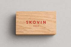Logotype and wood veneer business cards for Skovin designed by Heydays. Featured on bpando.org