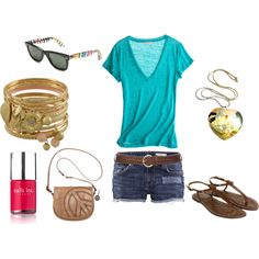 created by erialcbe on Polyvore. i want everything in this outfit! especially the sunglasses