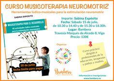 Curso de musicoterapia en Vigo impartido por Sabina Esposito. Herramientas para el desarrollo neuromotriz a través del movimiento e instrumentos musicales