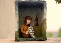 Shadow box assemblage sculpture by CristinaGrueso on Etsy