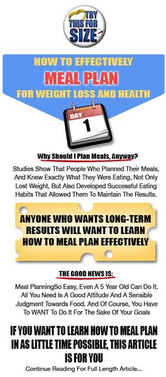 How To Effectively Create Meal Plans For Weight Loss And Health | Ways To Lose Weight Quick