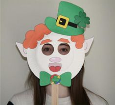 How to make jumping jack leprechauns for st patrick s day for Leprechaun mask template