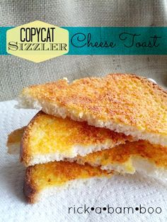 Make Sizzler's Cheese Toast at home. It's super easy and my version is lactose free!