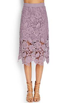 Crochet Lace Midi Skirt | FOREVER 21 - 2000064399