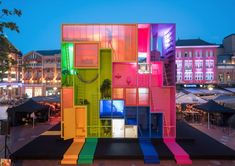 """Dutch firm MVRDV and research think-tank The Why Factory recently unveiled (W)ego, a concept for a hotel comprised of 9 rooms that can be moved into different configurations, adapting to the occupant's needs. """"When confronted with the dreams of others, users must learn to negotiate with each other to optimise use of limited urban space. The (W)ego installation represents a window into the future of adaptable housing to the user's needs. This vision allows the coexistence of mul..."""