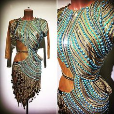 #abrahammartinez #dress #latin #gold #blueparadise #cristalfringes #cristal #aurum #swarovski #forsale FOR SALE!
