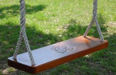 A monogrammed swing?! Yes please!