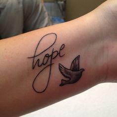 55 hope and dove tattoo