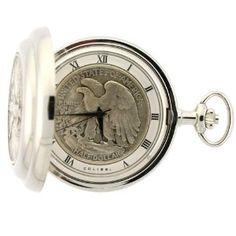 Colibri Silver Liberty Half Dollar Coin Pocket Watch Model PWS095911X (Watch)