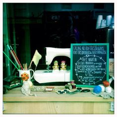 Craft Night In window display @ Cafe Moochoo, first night 30th jan 6-9 come craft, drink tea and eat cake! #cheltenham #craft #cafe | Flickr...