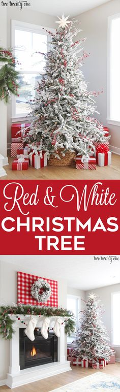 Red and white Christmas tree!