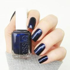 give 'em the slip. shimmering, deep twilight blue lacquer moves in shadows, glistening in the night. couture-ready dark blue has the depth of the best black nail lacquer, with more heat -- essie 'midnight cami'