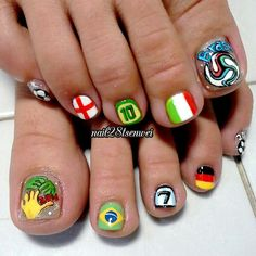 fifa world cup 2014 by nail28tsenwei #nail #nails #nailart
