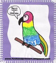 Parrot. handprint-art