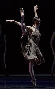 "Jurgita Dronina (Dutch National Ballet) performing Hans van Manen's ""Corps"" at Dance Open 2014. Photo by Stas Levshin"
