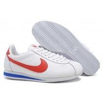 new products 15bb1 d5ea2 Nike Classic Cortez Nylon Homme Blanc Rouge Indispensable-20 White Nikes,  White Nike Shoes