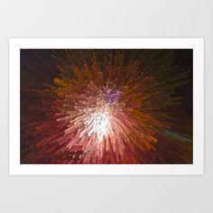 Abstract in red Art Print by David Pyatt - $17.68