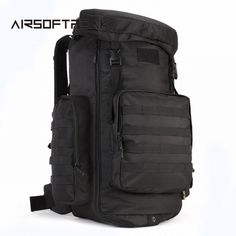 f9e2c26db92a Aliexpress.com   Buy 75L Tactical Backpack Outdoor Sports Large Capacity  Hunting Backpacks 900D Travel Rucksack Waterproof Hiking Shoulder Bags from  ...