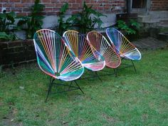 Coloured Acapulco chairs