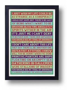 Primitive Painters Lyric Typography Art Print
