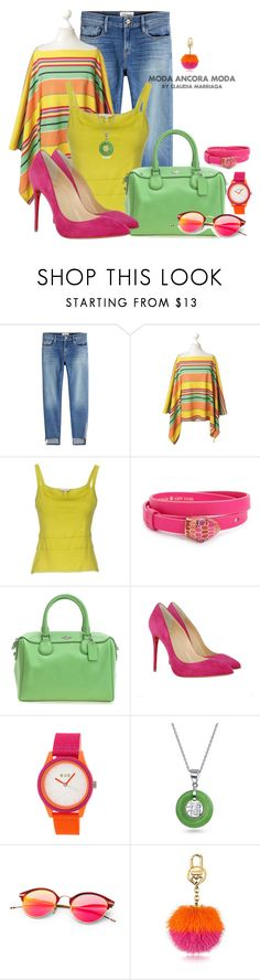 """""""Arde fuerte"""" by rudyclau on Polyvore featuring moda, Frame, Ralph Lauren, SEVENTY, Kate Spade, Christian Louboutin, Crayo e Bling Jewelry"""