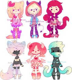 Adoptables Batch 9: CLOSED by Zombutts on DeviantArt~~~So fluffy-looking