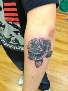 100 dollar bill rose tattoo by dazzbishop on DeviantArt 100 Dollar Bill, 100 Tattoo, The 100, Deviantart, Tattoos, Rose, Tatuajes, Pink, Tattoo