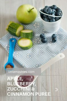 Zucchini Apple Blueberry And Cinnamon Baby Puree. Zucchini Apple Blueberry And Cinnamon Baby Puree. Apple Baby Food, Banana Baby Food, Kiwi And Banana, Baby Puree Recipes, Pureed Food Recipes, Baby Food Recipes, Zuchinni Baby Food, Zucchini, Toddler Meals