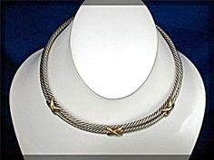 14K Sterling Silver David Yurman Look Collar Necklace (Image1)