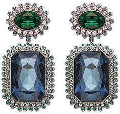 Swarovski Spectacle Clip Earrings