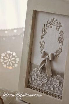 Ricamo, life style, cucito creativo, bomboniere, crochet, shabby chic, country, knit, punto croce, schemi, corone, giardino, cucina...