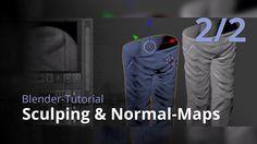 Blender-Tutorial - Sculping & Normal-Maps (2/2)