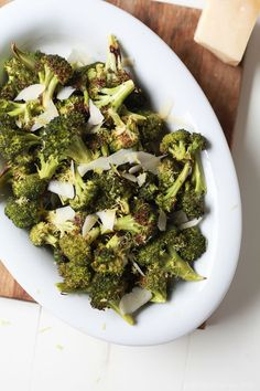 This Roasted Broccoli with Parmesan Lemon Butter Sauce Recipe