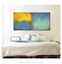 Abstract Painting  Canvas Wall art  SERIE ONCE.XXX by RonaldHunter