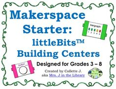 Makerspace Starter: littleBits(TM) Building Centers - Want your students to develop problem solving skills and creativity? Start a makerspace in a library, computer lab, or classroom. This centers set allows students to tinker and build with littleBits(TM) electronics kits or other kits. $