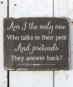 Love this 'Talk to Pets' Wall Sign on #zulily! #zulilyfinds