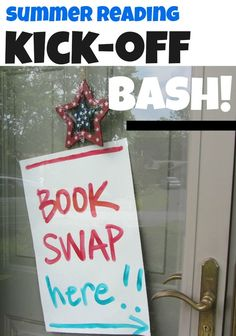 Ready to start this summer with some fun of the kids but also great ways to get the kids to read over summer break and still do something educational? Why not host a summer reading books swap event? Here's how! #teachmama #summerbreak #bookswap #reading #readingactivities #kidfun #summerfun #learning #learningactivities