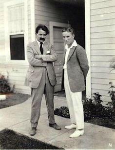 With Konrad Bercovici, Chaplin Studios, c. early-mid '20s