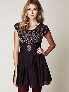 """Free People"" Short Sleeve Eyelet Garden Day Dress...adorable!"