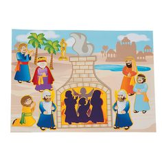 Shadrach, Meshach & Abednego Mini Sticker Scenes - OrientalTrading.com